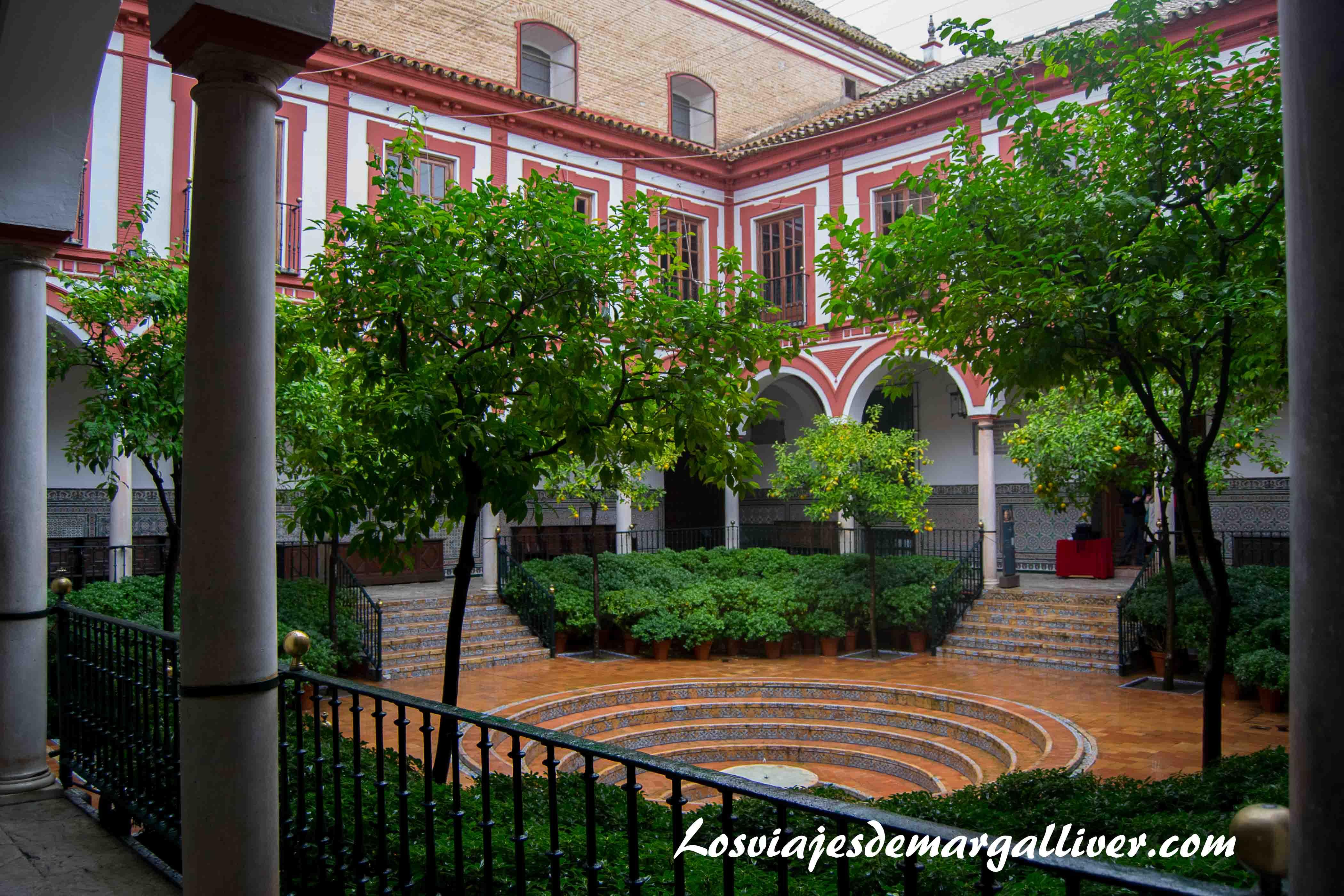 Patio central del hospital de los venerables , donde se situa la exposicion velazquez-murillo - Fundación Focus-Abengoa